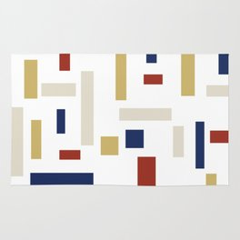 Abstract Theo van Doesburg Composition VIII (White) The Three Graces Rug