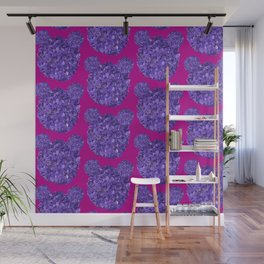 Lilac bears Wall Mural