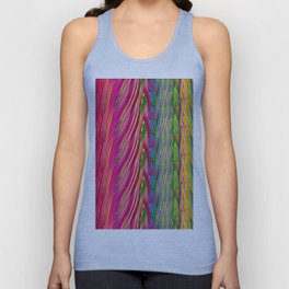 Rainbow Waves  #society6 #decor #buyart Unisex Tank Top