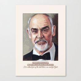 Art Portrait & Quote: Sean Connery Canvas Print