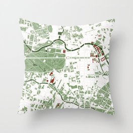 Berlin city map minimal Throw Pillow