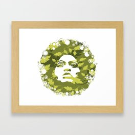 Natural Afro Framed Art Print