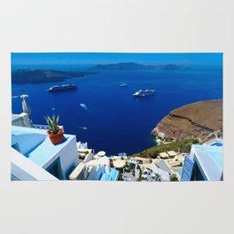 Santorini Caldera Rug