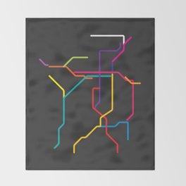 kyoto metro map Throw Blanket