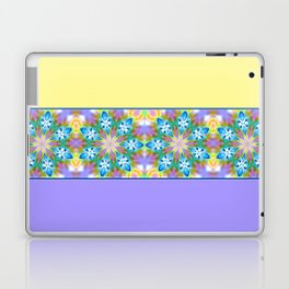 Abstract Blue Spring Flowers Laptop & iPad Skin