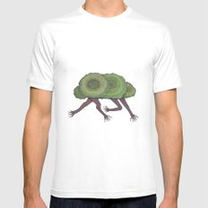 Creeping Shrubbery Mens Fitted Tee White MEDIUM