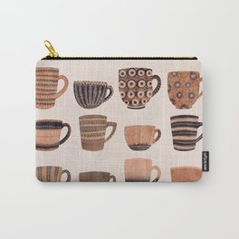 Watercolor Tea Cups Carry-All Pouch