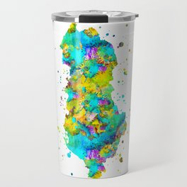 Albania Map Travel Mug