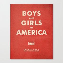 Boys & Girls In America Canvas Print