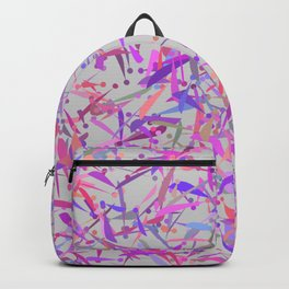 Purple pink surprise party exclamation point camouflage Backpack