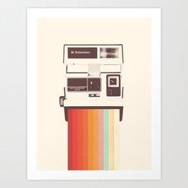 Instant Camera Rainbow Art Print