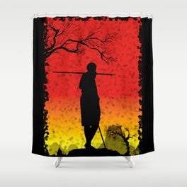 The African Warrior Shower Curtain