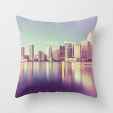Vintage Miami Throw Pillow