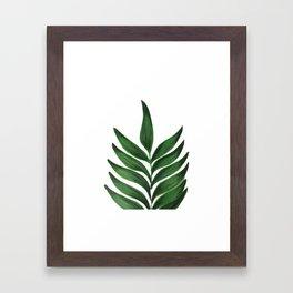 GREEN L E A F Framed Art Print