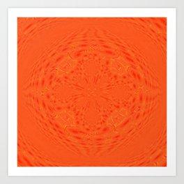 Bright Orange Art Print