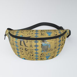 Egyptian  Ornament Symbols Pattern Fanny Pack