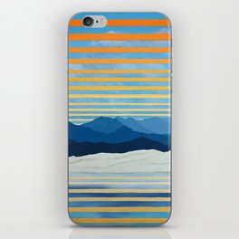 Twilight at Mono Lake - Landscape with Mountains iPhone Skin