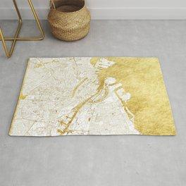 Copenhagen Map Gold Rug