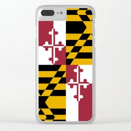 Maryland State Flag, Hi Def image Clear iPhone Case