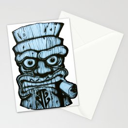 Tiki all made up in blue Stationery Cards