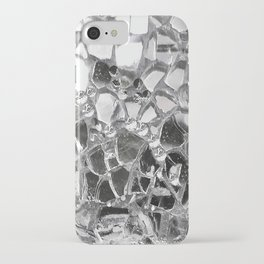 Silver Mirrored Mosaic iPhone Case