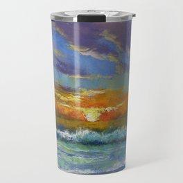 Malibu Beach Sunset Travel Mug