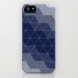 Navy Blue Triangles Minimal iPhone Case