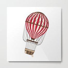 Retro Balloonist Ballooning Hot Air Balloon Pilot Gift Metal Print