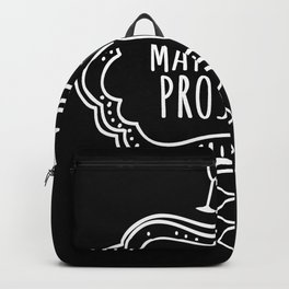May contain Prosecco Quote Backpack