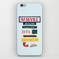 nashville iPhone & iPod Skins featuring Nashville signs by emma miller