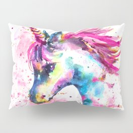 Pink Unicorn Pillow Sham