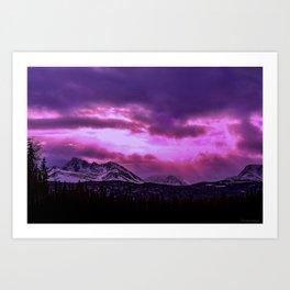Chugach Mountains in Purple - II Art Print
