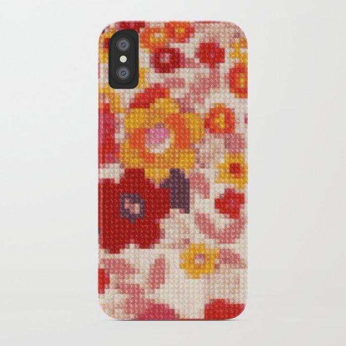 hot sale online fc264 5767e Cross Stitch Flowers iPhone Case