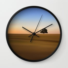 Focus on one thing at a time isolated oak tree Wall Clock