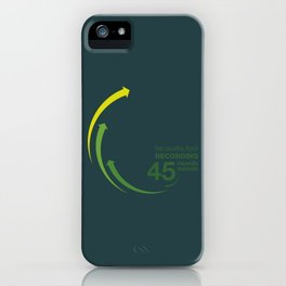 45rpm be.audio.fool iPhone Case
