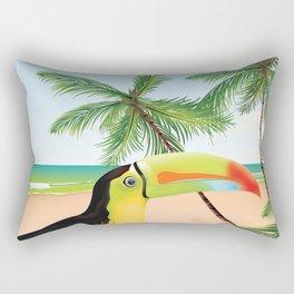 "by Air ""jamaica"" Rectangular Pillow"