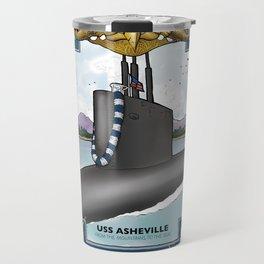 USS Asheville - Pearl Harbor Submarine Service (Gold Dolphins) Travel Mug