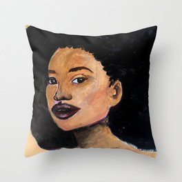 Tanisha a girl from Brooklyn Throw Pillow
