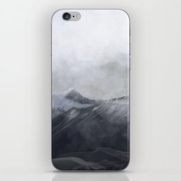 happy in the mountains iPhone Skin