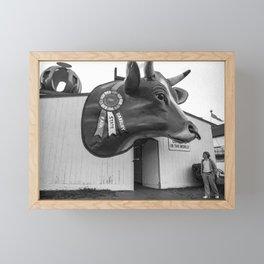 Giant Ox Head 1980 Framed Mini Art Print