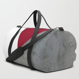 Concrete Burgundy Red White Duffle Bag