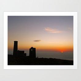 Wheal Coates at Sunset Art Print