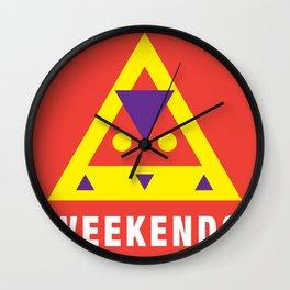 Weekends Wall Clock