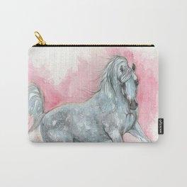 arabian horse watercolour art Carry-All Pouch
