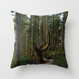 Cape Flattery Trees Throw Pillow