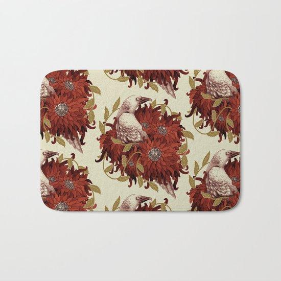 Bird and Flowers Bath Mat