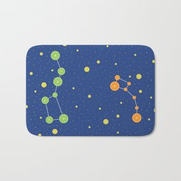 Citrus constellations Bath Mat