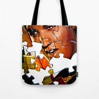 gentleman Tote Bags featuring Gentleman by Rick Staggs