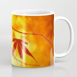 Red Maple in Golden Autumn Coffee Mug