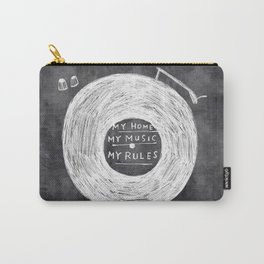 my home, my music, my rules Carry-All Pouch